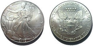2P: Silver Eagle - Average Uncirculated Condition