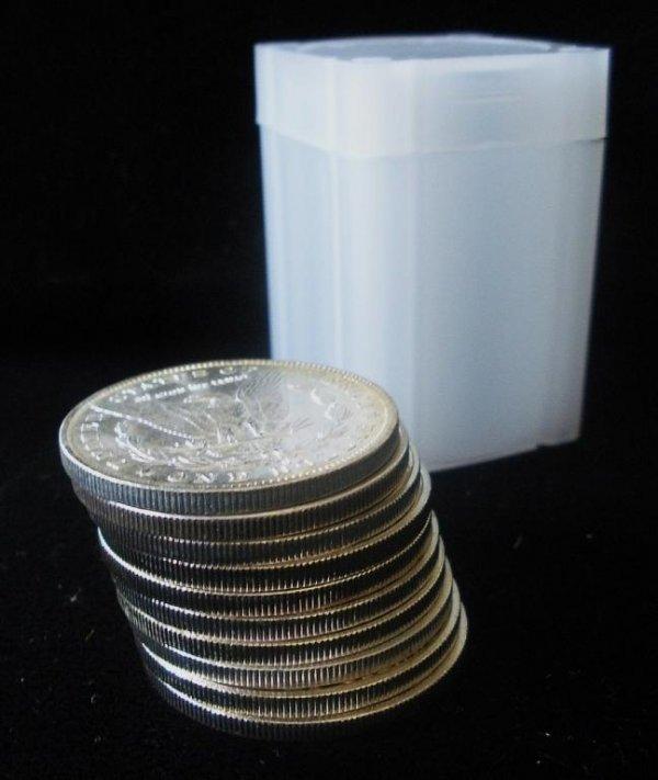 2Q: Roll of 20 Morgan Silver Dollars- 1878-1921 g-xf
