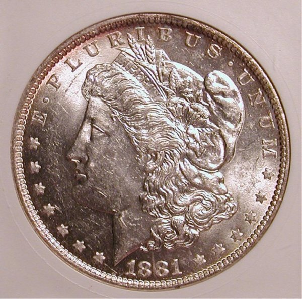 4Q: 1881-O Morgan Silver Dollar - Nice BU