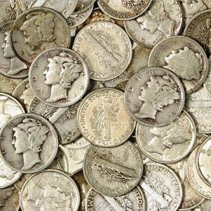 8: Lot  of 100 Mercury Dimes-