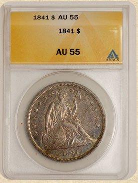 3D: 1841 Seated Liberty $ AU55 ANACS