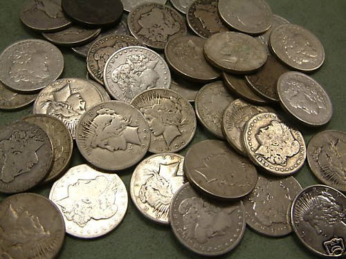 16: Lot of 100 US MINTED SILVER DOLLARS!