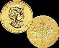 1: 1 oz. Gold Maple Leaf Bullion Coin
