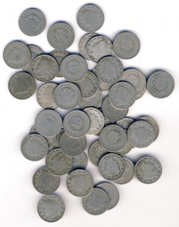 4: Lot of 50 V Nickels
