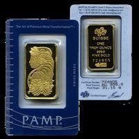 5F: FAE- Pamp Suisse 1 oz. Pure Gold .999 Ingot on Card