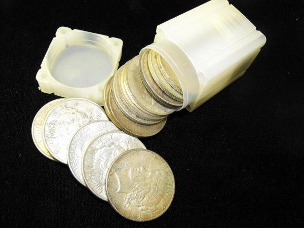 6: Roll of 20 Peace Silver Dollars