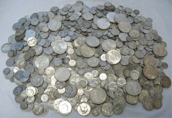 15: Huge Lot of 90% Silver!!!  1000 Face Value!