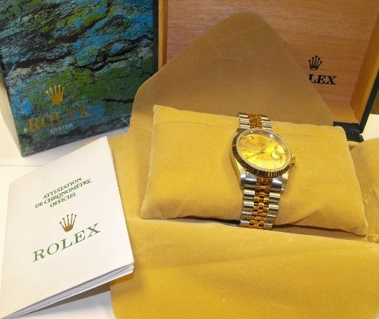 2X: Men's Two Tone Stainless Rolex in Box