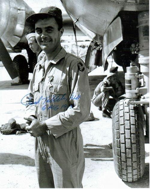 """7D: Paul """" BIRDIE"""" Tibbets Autographed Photo  8 x 10"""