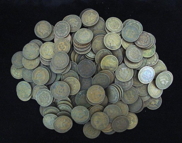 13A: Lot of 100 Indian Head Cents-Circulated