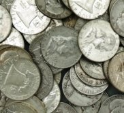 19A: Lot of 10 Franklin 90% Silver Halves- Circulated