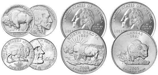 12: For Circulation Buffalo Theme Coins