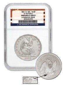 20: 1861-O Civil War Sucession N.O. Mint  Coin NGC