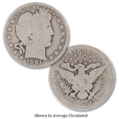 17: Group Of (3) Barber Half Dollars-