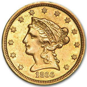 21: Random Date $ 2.5 Liberty Head Gold Coin