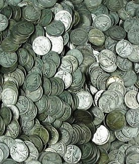 10A: Lot of 100 Walking Liberty Half Dollars-