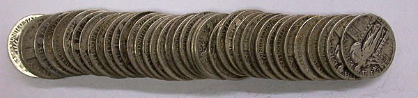 1T: Standing Liberty Quarters Very Good Roll Of 40