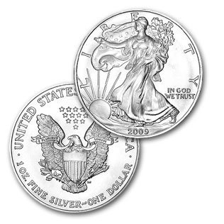 8A: Silver Bullion 1 oz. Silver Eagle- Random date-