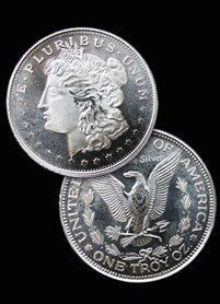 3: Private Mint Morgan SILVER Round! Bullion!
