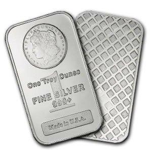 233: Lot of 10 MORGAN DESIGN Silver Bullion Bars