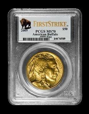 1W: 2009 American Gold Buffalo G$50 Graded PCGS MS70 Fi