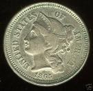 1B: 1865 III Cent Nickel