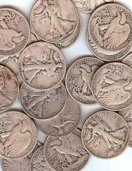 9: Lot of 10 Walking Liberty Halves- 1940's