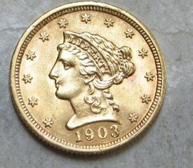 9A: Random Date $ 2.5 Dollar Gold Liberty Head Coin