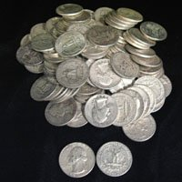 10: Lot of 100 Washington 90% Silver Coins