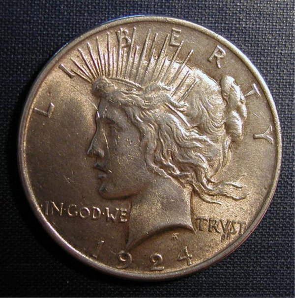 12: 1924 Peace Dollar Uncirculated Condition