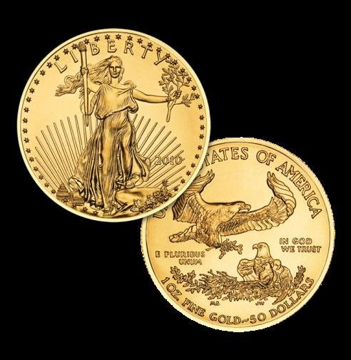 1A: 1 OZ Pure Gold 22k US Minted Eagle- Various date