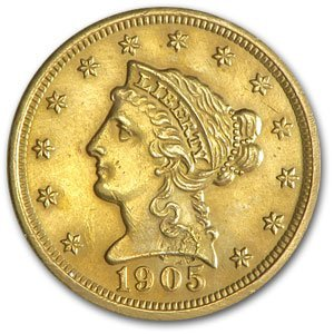 1H: A Random Date xf or Better $ 2.5 Liberty Gold