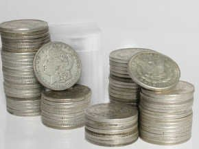 10: A Random date mint Morgan Silver dollar from cache