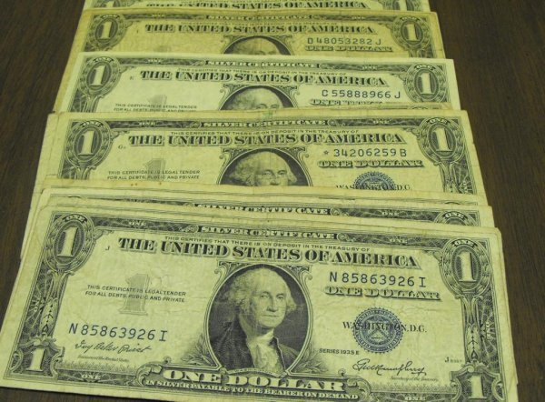 126: Lot of 10 Silver Certificates- 35-57 mix