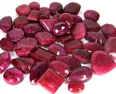 10Z: Lot of 42 Ruby Gemstones- over 400 tcw- $6k Value