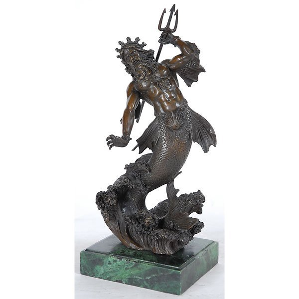 9: Bronze Sculpture of Sea God Neptune