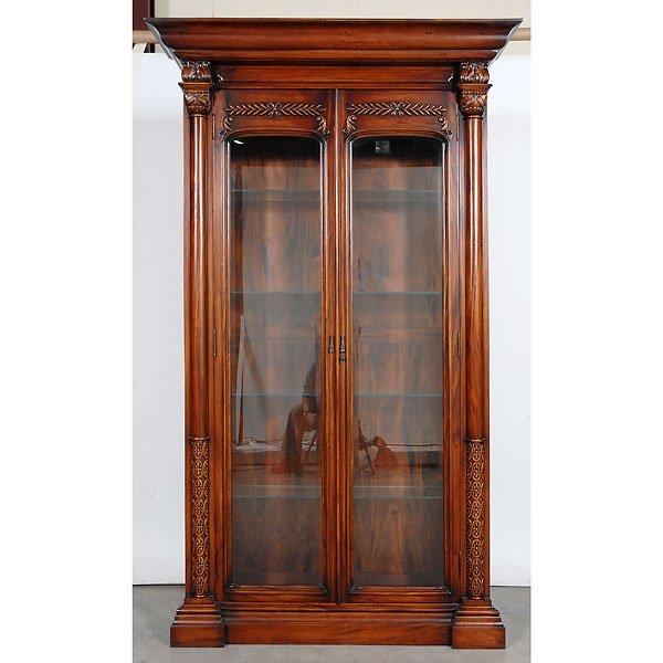 12: Large Designer Style Mahogany Bookcase