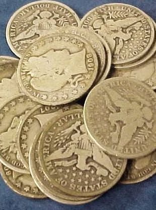 536A: Lot of 10 Barber Halves- Various Circulated Dates