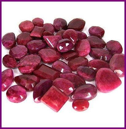 4G: A Lot of 400 ct. TCW Ruby Gemstones $6k GIA