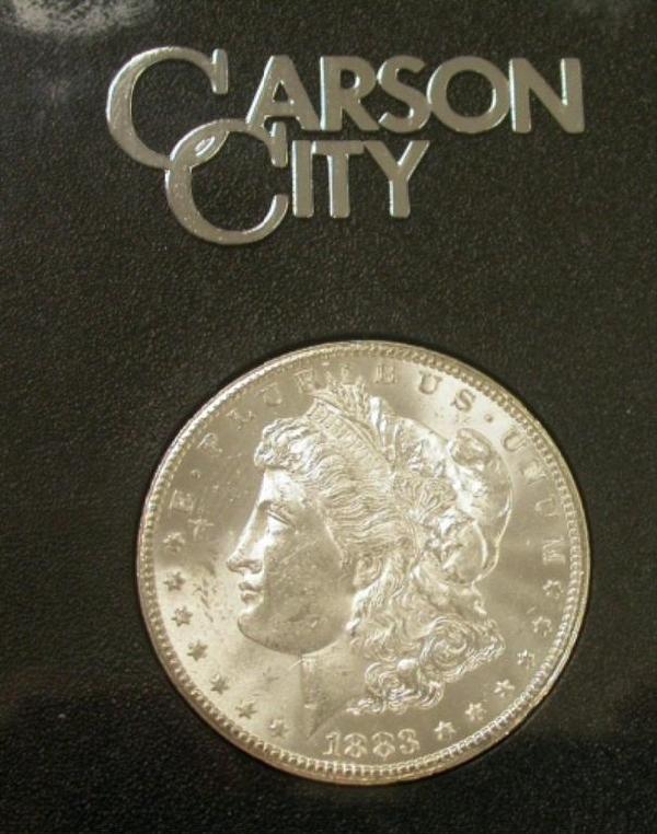 2: 1883 GSA Morgan Carson City Dollar