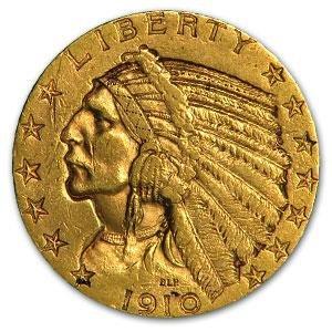 110: $ 2.5 Gold Indian 1910-17 date range