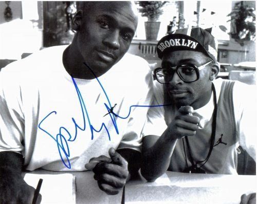 3T: Spike Lee Autographed Photo- Spike & Micheal Jordan