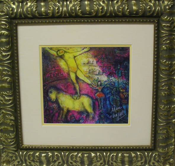 "4E: Marc Chagall- ""At the Circus"" Hand Signed w/ COA"