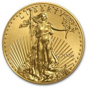 3B: 1 oz. Gold Eagle Bullion- .999 Pure US Minted- Rand