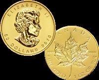 1M: 2010 Canadian Maple Leaf $50 Gold 1 oz. (.9999 24)