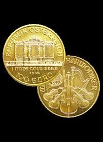 1P: 2009 Austrian Philharmonic 1 oz Gold 999.9 (100 E.