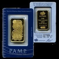 2R: PAMP/Credit Suisse 1 ounce Gold Bar 999.9 with As