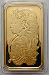 24: 1 oz. Gold Bullion .9999 PAMP SUISSE on Card