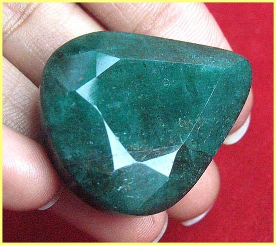 3G: 85 ct. Pear Shape Emerald $ 1650 GG GIA- Columbian