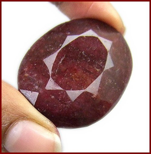 4G: 137 ct. Ruby Gemstone- $ 2500 GG GIA